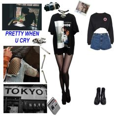 i love everything about you by ronyida15 on Polyvore featuring Boohoo, Wet Seal, Topshop, Prada, Kreepsville 666 and CASSETTE