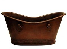 Copper Tub with Rings - CopperSinksOnline ,Price: $3,275.00, From www.coppersinksonline.com