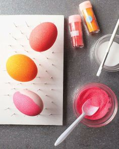 How-To: Glittered Easter Eggs.