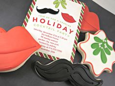 Holiday cocktail party ideas sure to impress. Create cookies based on your party invitation! #DIY
