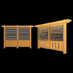 Board on Board Fence with Louver Top - 8 ft. Section