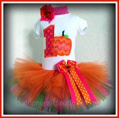 Birthday+Pumpkin+Tutu+Set+Pumpkin+Patch+Fall+Tutu+by+TooTuTuCute,+$50.95