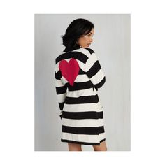 Betsey Johnson Long Sleeve Love Above All Robe ( 48) ❤ liked on Polyvore  featuring 5843417da
