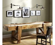 Shop shuffleboard table from Pottery Barn. Our furniture, home decor and accessories collections feature shuffleboard table in quality materials and classic styles. Furniture Upholstery, Home Furniture, Bedroom Furniture, Pottery Barn, Barn Pool, Shuffleboard Table, House Games, Pub, Modern Outdoor Furniture