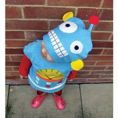 Halloween child cookie robot costume blue for baby by GuuGuuGa