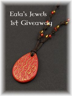 Eala's Jewels First Tumblr Giveaway!!!Hello everyone! I want to announce my first giveaway on Tumblr! I already tried it on Facebook last year but not enough people partecipated, so i had to cancel it :(I really hope that on Tumblr i will find more people that want to receive something free and like my creations!THE PRIZE: the above necklace textured with one amazing inspired Klimt's texture, decorated with gold and red beads.HOW TO PARTECIPATE: You must be one of my followers. New followers…