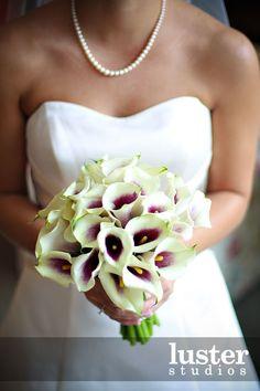 Eggplant Purple Rose Amp Calla Lily Wedding Bridal Bouquet