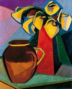 Auguste Herbin ~ Arumlelies ~ ca. 1911 ~ Olieverf op doek ~ x cm. Kunst Picasso, Picasso Art, Pablo Picasso, Abstract Painters, Abstract Art, Auguste Herbin, Maurice Utrillo, Francis Picabia, Georges Braque