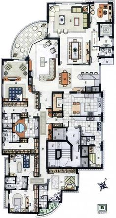 Fantastic buildings with the great architecture architects architecture design celebrate design luxury furniture Sims House Plans, House Layout Plans, Dream House Plans, House Layouts, House Floor Plans, The Plan, How To Plan, Home Design Floor Plans, Plan Design