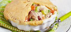 Leftover Turkey Pot Pie recipe: Use up your leftover Thanksgiving turkey, veggies, and pie crust Pie Recipes, Chicken Recipes, Cooking Recipes, Healthy Recipes, Cooking 101, Candy Recipes, Dessert Recipes, Good Food, Yummy Food