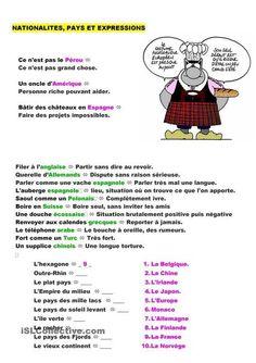 Expressions Pays et nationalités | TICE et langues | Scoop.it