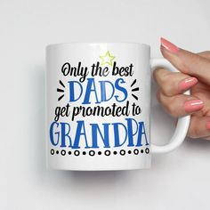 Only the Best Dads Get Promoted to Grandpa Mug - New Grandpa Gift, Grandpa EST Mug, New Grandpa Mug, Gift for Grandpa, Grandpa Gift, Birthday Gift for Grandpa, Christmas Gift for Grandpa, Father's Day Gift, First Father's Day Gift, Pregnancy Reveal Gift, Pregnancy Announcement Gift for Grandparent, Grandparent Gift, Gift for Grandparents #pregnancyannouncementforgrandparents,