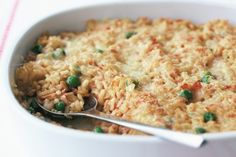 Cooked ham adds meaty goodness to this very cheesy risotto.