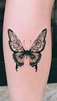 Unique Butterfly Tattoos, Butterfly Tattoo Meaning, Butterfly Tattoo On Shoulder, Butterfly Tattoo Designs, Shoulder Tattoo, Unique Tattoos, Butterfly With Flowers Tattoo, Butterflies, Mini Tattoos
