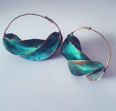 VERDIGRIS FULANI EARRINGS,  These earrings are traditionally worn by the Fulani women in West Africa. Each one has been handmade in Mali by Fulani craftsman.