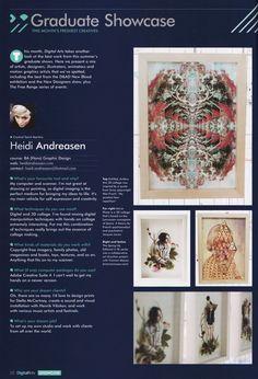 Digital Arts Magazine - Graduate Showcase. #feature #interview #digitalartsmag #heidiandreasen #collage #illustration #heidi #andreasen