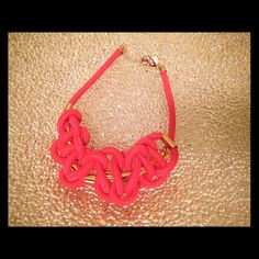 Hot Pink Statement knotted Necklace Super cute fun hot pink statement necklace. Jewelry Necklaces