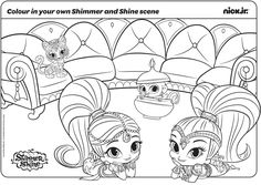 Shimmer And Shine Coloring Pages Pets To Print Book