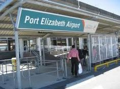 Entrance gate of Port Elizabeth International Airport, South Africa.
