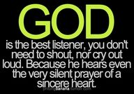 Thanks for listening Lord