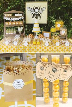 Baby Bumble Bee Party Adorable Baby Bumble Bee Party // Hostess with the ill save this one for when I have a little girl. My Baby B :-)Adorable Baby Bumble Bee Party // Hostess with the ill save this one for when I have a little girl. My Baby B :-) Baby Bumble Bee, Bumble Bee Birthday, Bumble Bees, Bumble Bee Cake, Deco Baby Shower, Bee Baby Showers, Baby Shower Themes Neutral, Unisex Baby Shower, Bridal Showers