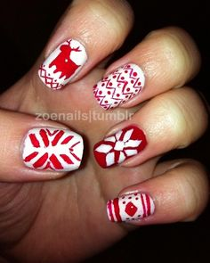 Christmas sweater nails nailsss