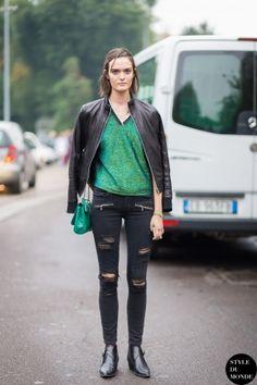 Sam Rollinson Street Style Street Fashion Streetsnaps by STYLEDUMONDE Street Style Fashion Blog