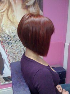 A-line bob, back of Camellia's hair? Edgy Short Haircuts, Short Hair Cuts, Medium Hair Styles, Natural Hair Styles, Short Hair Styles, Def Not, Hair Color And Cut, Blonde Bobs, Hair Today