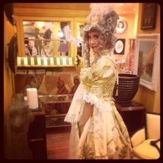 The burlesque dancer Vanille Bon Bon before the show during the #vfno in Milan sponsord by Bruno Carlo