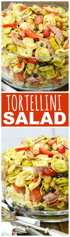 Take a tour of the Mediterranean with the bold flavors in my Tortellini Salad.  It's zesty and creamy and tangy and hearty – the salad that eats like a meal!