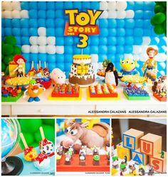 Toy Story Party Planning Ideas Supplies Idea Cake Decorations Disney - Toys for years old happy toys Toy Story Baby, Toy Story Theme, Toy Story Birthday, Boy Birthday, Birthday Ideas, Toy Story Decorations, Cake Decorations, Toy Story Centerpieces, Decoration Party