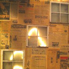 Old italian newspapers as wallpaper