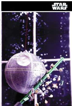 How to make a Death Star pinata (so festive!) and where to get light sabers.