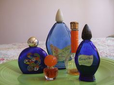 5 Perfume Bottles Evening in Paris by TooFunT on Etsy, $25.00