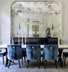 Navy Blue Dining Room Decor Ideas: View In Gallery Traditional Dining Room Design In Navy Traditional Dining Room Furniture, Room Decor, Room Inspiration, Dining Room Navy, Blue Dining Chair, Dining Room Blue, Blue Dining Room Decor, Navy Dining Room Decor, Dining Room Inspiration