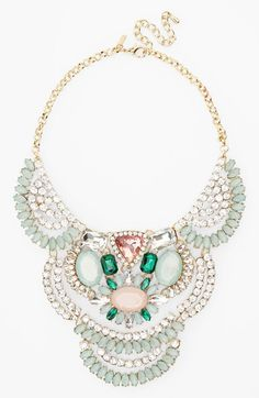 Free shipping and returns on Topshop Rhinestone Collar Necklace at Nordstrom.com. Sparkling multicolored crystals create opulent fans across a gorgeous statement necklace.