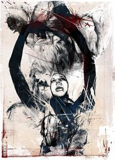 Printed Matter by Russ Mills, via Behance Street Art, Abstract Faces, Abstract Flowers, Abstract Art, Printed Matter, Cool Artwork, Amazing Artwork, Figure Painting, Artist Art
