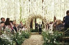 not a huge fan of Twilight but can my ceremony look like this?  the cascading flowers are enchanting.