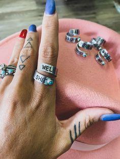 Craft Jewelry, Jewelry Ideas, Jewelry Box, Handmade Jewelry, Jewelry Making, Metal Stamping Jewelry, Hand Stamped Jewelry, Stone Jewelry, Silver Jewelry