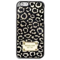 Michael Michael Kors iPhone 6 Leopard Case ($40) ❤ liked on Polyvore featuring accessories, tech accessories, gold and michael michael kors