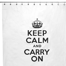 "Keep Calm 72"" x 72"" Shower Curtain"