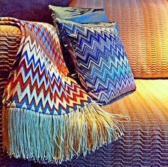 Who says zigzags can't be chic? MissoniHome makes them elegant as well as fun.
