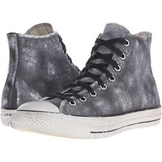Converse Chuck Taylor All Star - Over Painted Canvas... (150 BRL) ❤ liked on Polyvore featuring shoes, sneakers, converse, grey, high top shoes, converse high tops, hi tops, high top canvas sneakers and grey hi tops