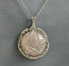 Handmade Wire Wrapped Pentacle Pendant in by MystikCritterZ, $27.00