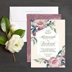 Velvet Floral Wedding Invitations by Jennie | Elli