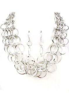 Silver June Necklace Set