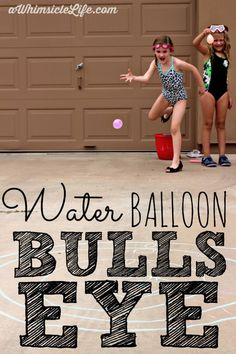 Nothing beats water balloons on a hot summer day!  This post has ideas for variations on this simple game that will keep the kids entertained for a while!
