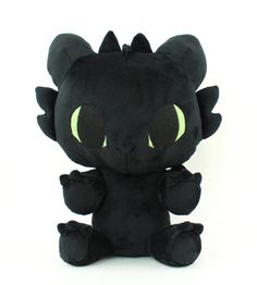 Sew cute and cuddly Toothless dragon stuffed animals with this DIY plush sewing pattern and photo tutorial! Learn how to make your own high quality