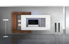 Συνθεση τοιχου P182 Tv Wall Cabinets, Tv Unit Furniture, Modern Tv Wall Units, Living Room Tv Unit Designs, Tv Stand Designs, Muebles Living, Tv Wall Decor, Tv Wall Design, Dream House Interior