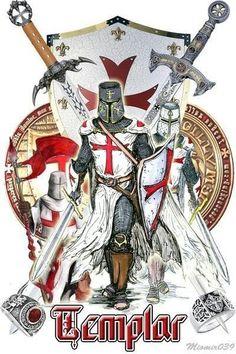 Many believe that the Knights Templar were absorbed into Scottish Rite Freemasonry Knight In Shining Armor, Knight Armor, The Knight, Samurai, Rose Croix, Crusader Knight, Christian Warrior, Empire Romain, Armadura Medieval